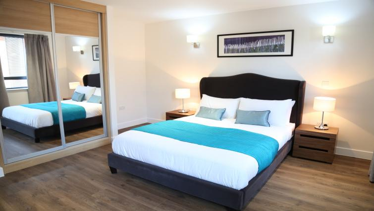 Double bed at Aldgate City Apartments - Citybase Apartments