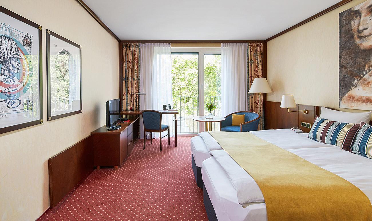 Bedroom at Living Hotel Prinzessin Elisabeth Apartments, Glockenbachviertel, Munich - Citybase Apartments
