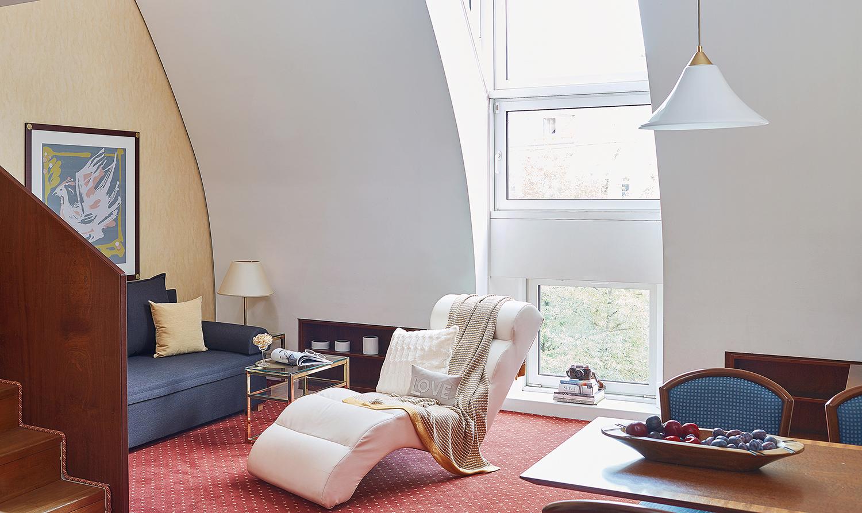Living area at Living Hotel Prinzessin Elisabeth Apartments, Glockenbachviertel, Munich - Citybase Apartments