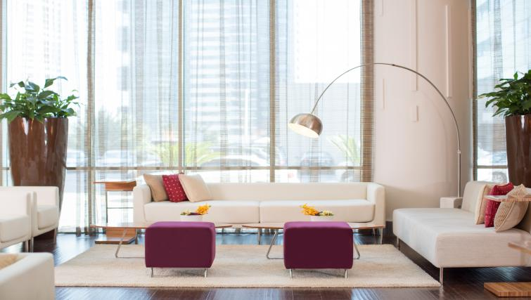 Communal seating area at Pullman Dubai Jumeirah Lakes Towers - Citybase Apartments