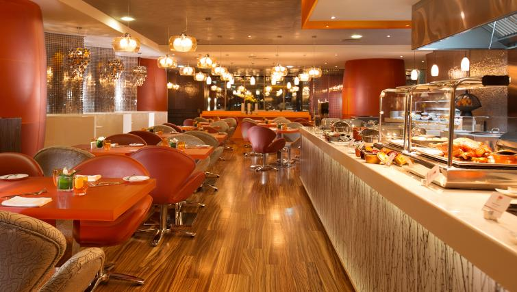 Food area at Pullman Dubai Jumeirah Lakes Towers - Citybase Apartments