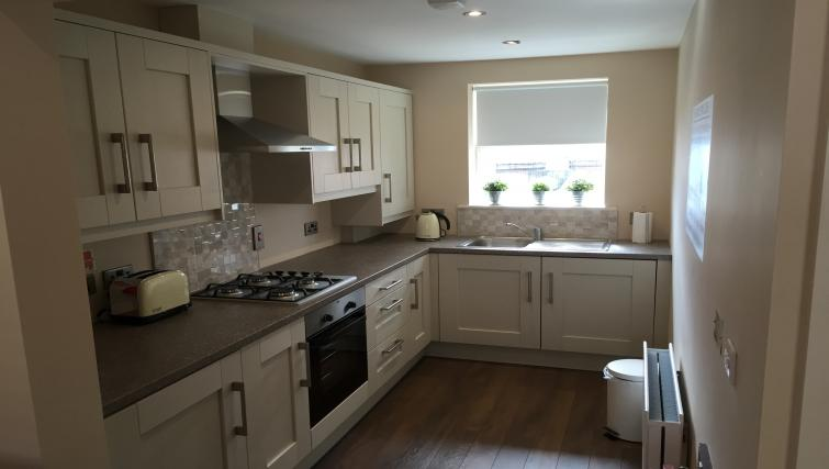 Kitchen at Belfast Serviced Apartments - Citybase Apartments
