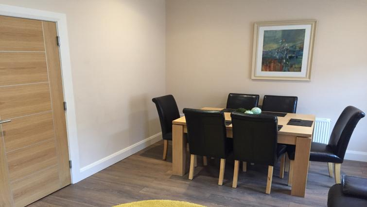 Dining area at Belfast Serviced Apartments - Citybase Apartments