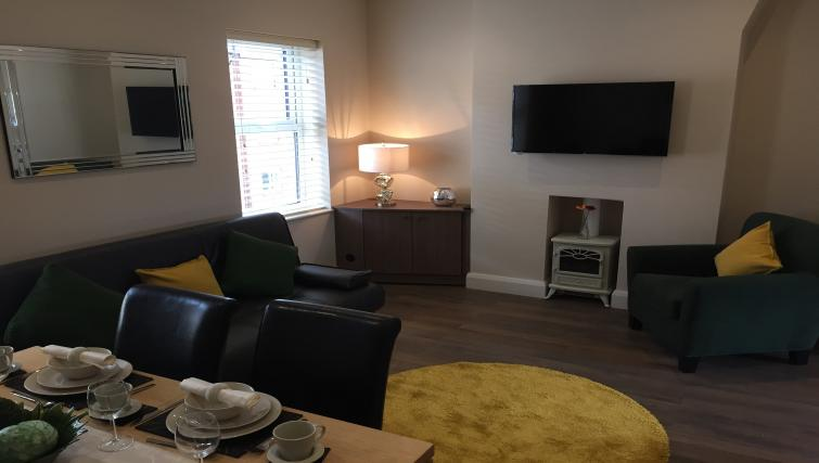 Living area at Belfast Serviced Apartments - Citybase Apartments