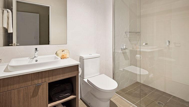 Shower at Quest Eight Mile Plains Apartments - Citybase Apartments