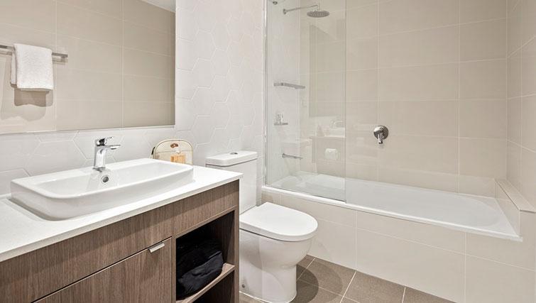 Bathroom at Quest Eight Mile Plains Apartments - Citybase Apartments