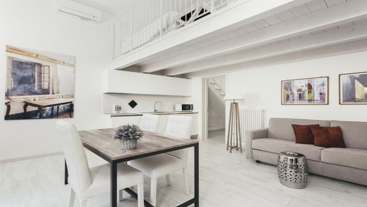 Living area at Residence Opera Apartment - Citybase Apartments