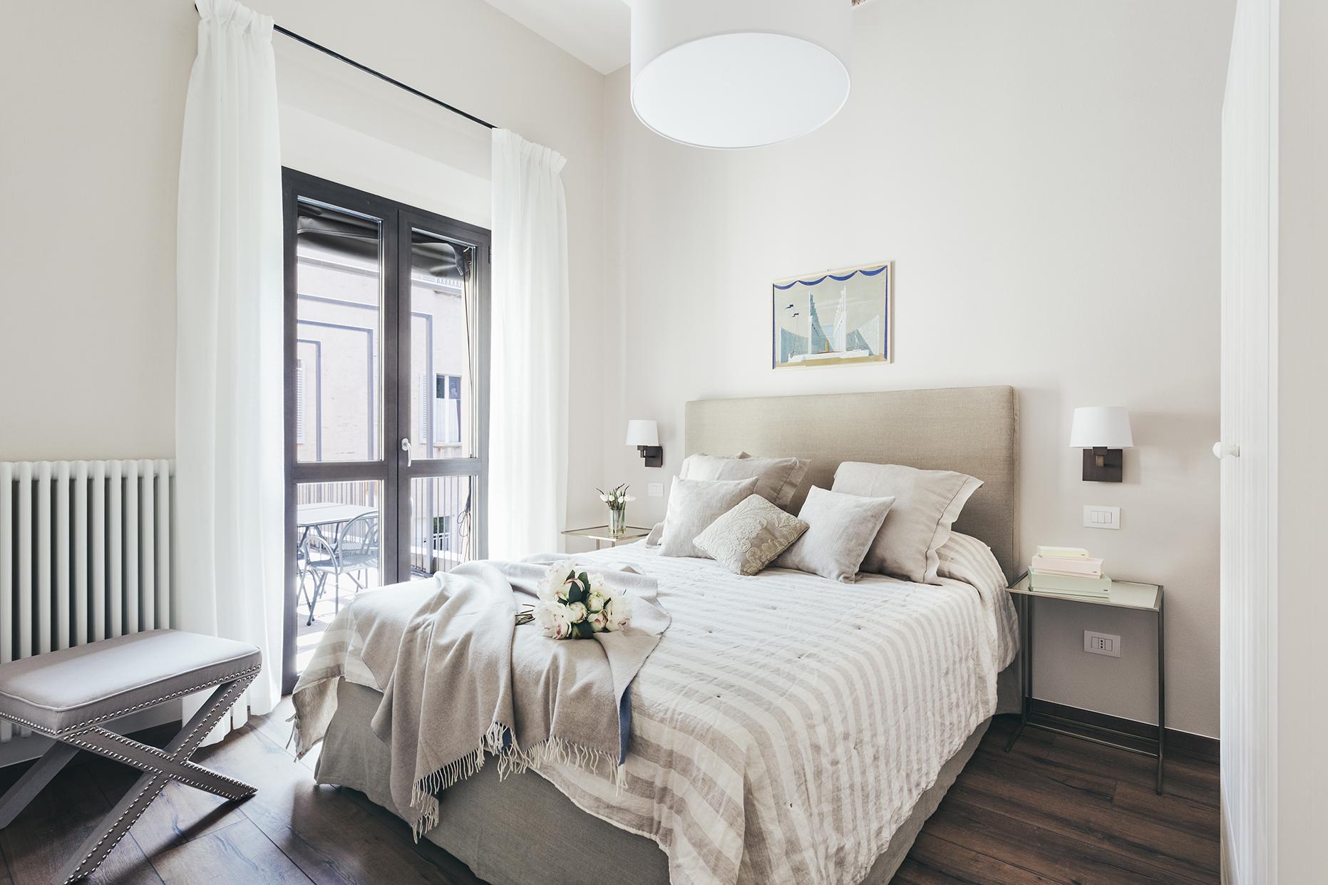 Stylish bedroom at Residence Opera Apartment - Citybase Apartments