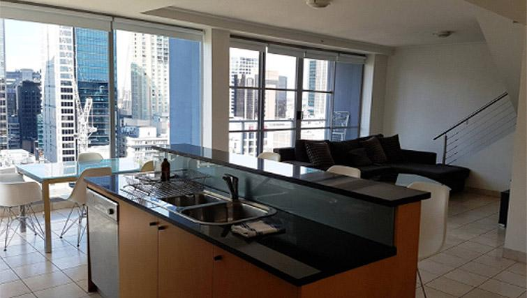 Equipped kitchen at Mid Town Sydney Apartments - Citybase Apartments
