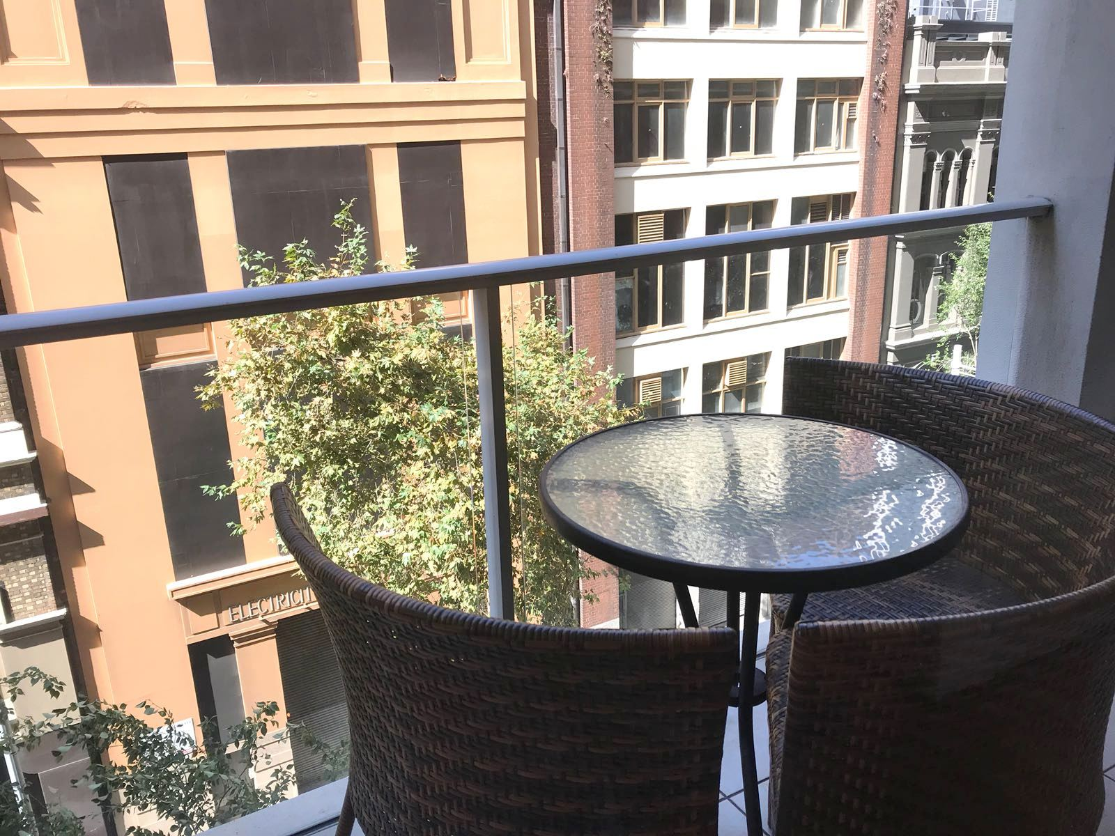 Balcony view at Mid Town Sydney Apartments - Citybase Apartments