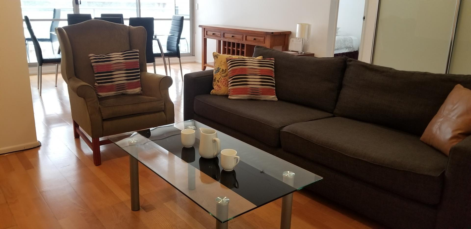 Coffee table at Mid Town Sydney Apartments - Citybase Apartments