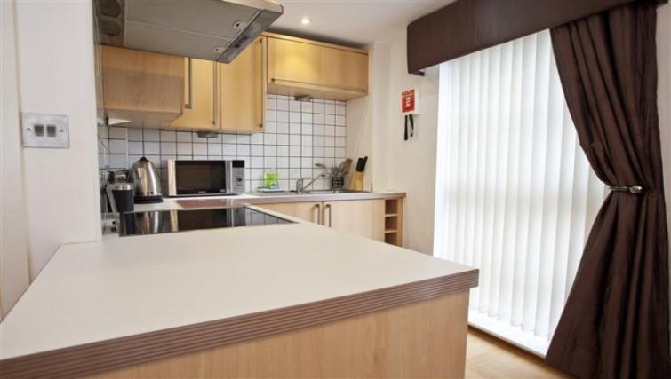 Bright kitchen at York Terrace Apartments - Citybase Apartments