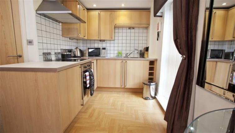 Modern kitchen at York Terrace Apartments - Citybase Apartments