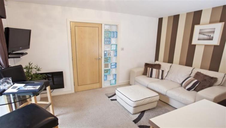 Spacious living area at York Terrace Apartments - Citybase Apartments