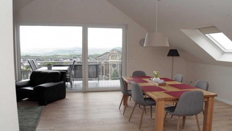 Living area at Pellenzblick Apartments - Citybase Apartments
