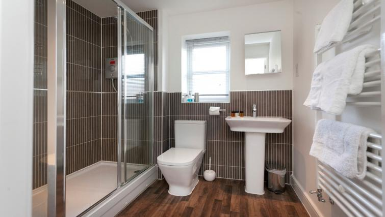 Bathroom at DBS The Coach House Apartment - Citybase Apartments