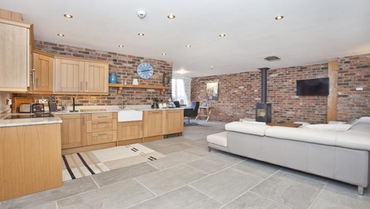 Living area at Holtby Farm Cottages - Citybase Apartments