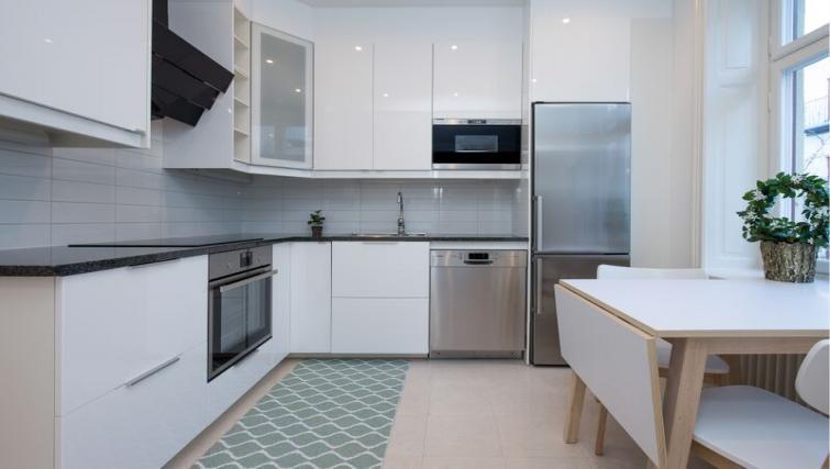 Equipped kitchen at Upplandsgatan 61 Apartments - Citybase Apartments