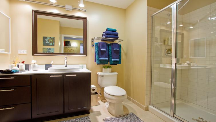 Bathroom at Randolph Tower Apartment - Citybase Apartments