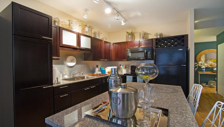 Kitchen at Randolph Tower Apartment - Citybase Apartments