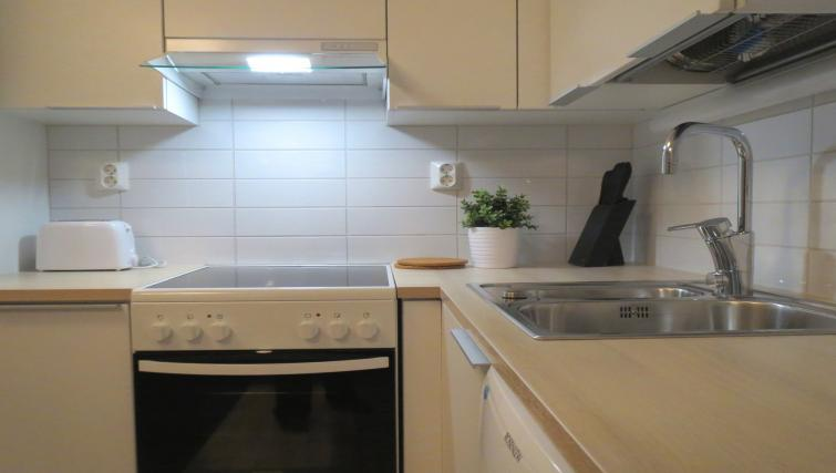 Sleek kitchen at the Viskaali Apartments - Citybase Apartments