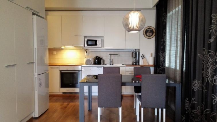 Kitchen at the Lyötynkatu Apartments - Citybase Apartments