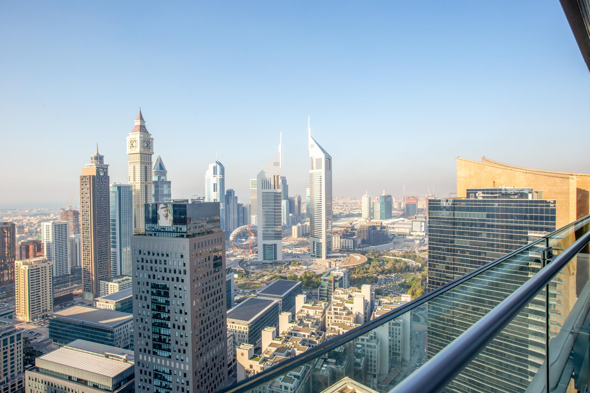 View from The Burj Daman Apartment, Financial District, Dubai - Citybase Apartments