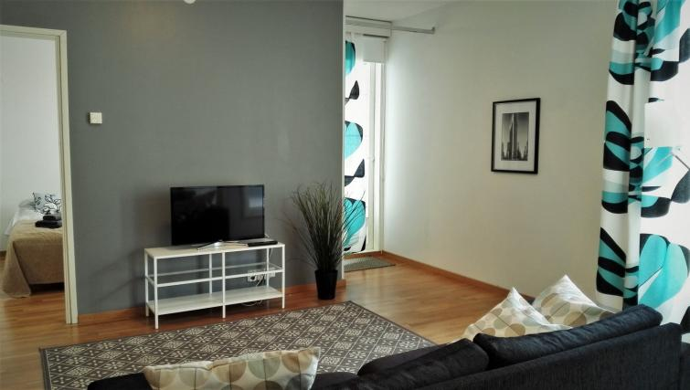 Lounge at the Koulukatu Apartment - Citybase Apartments