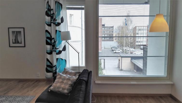 Windows at the Koulukatu Apartment - Citybase Apartments