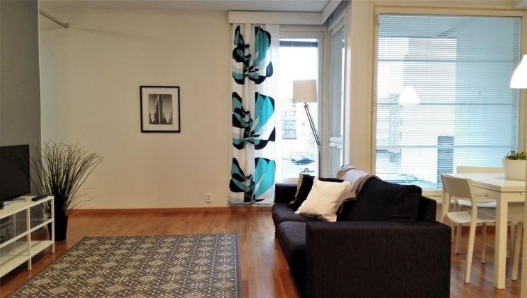 Living area at the Koulukatu Apartment - Citybase Apartments