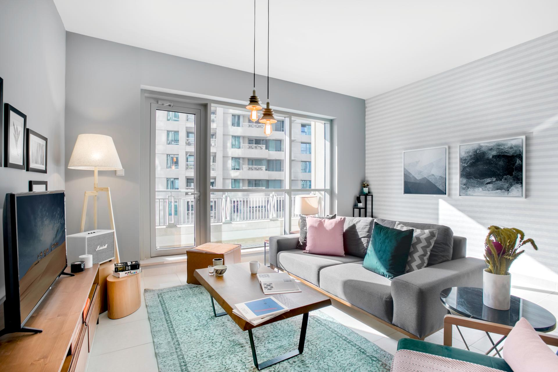 Stylish living room at Boulevard Central Apartment - Citybase Apartments