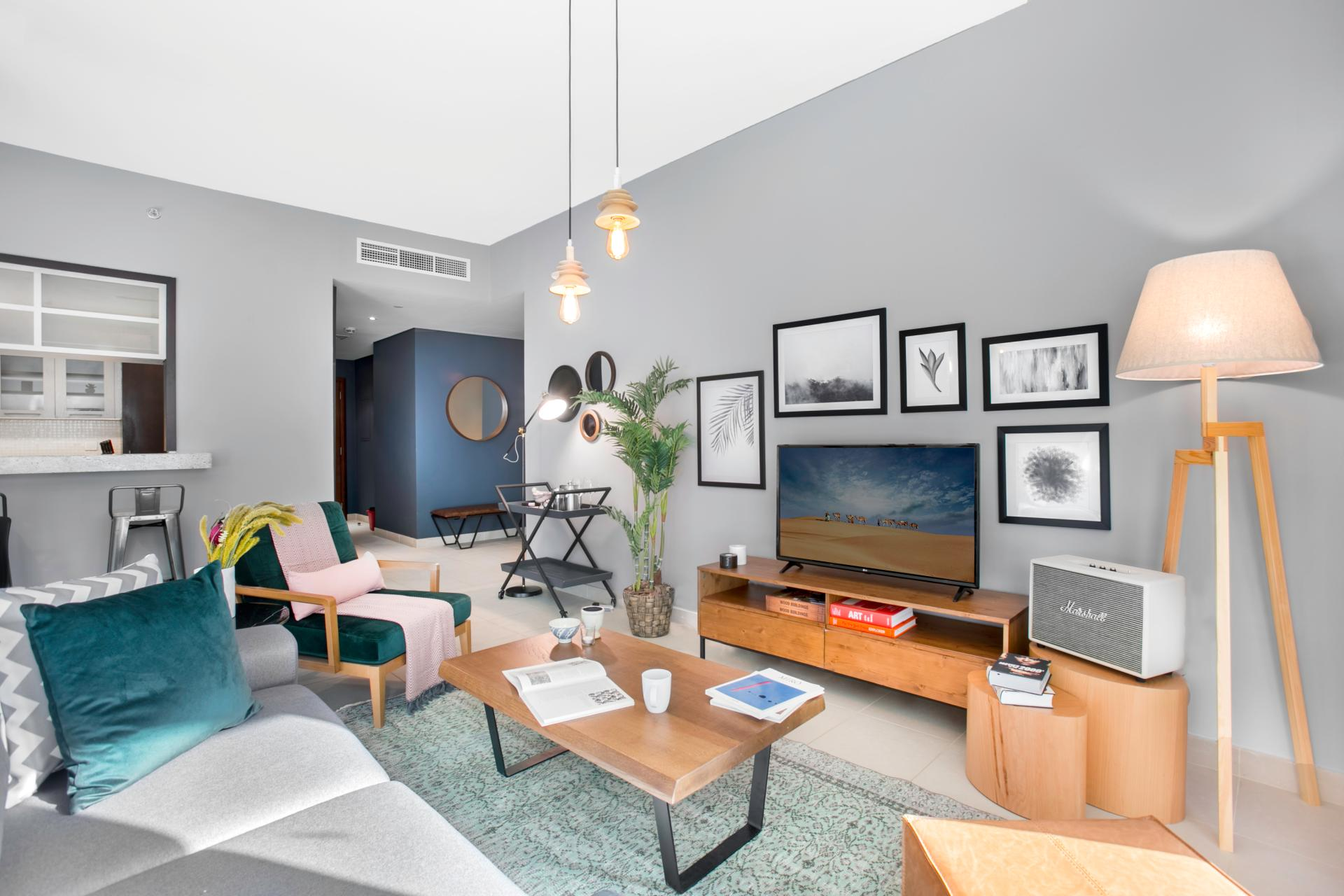 TV at Boulevard Central Apartment - Citybase Apartments