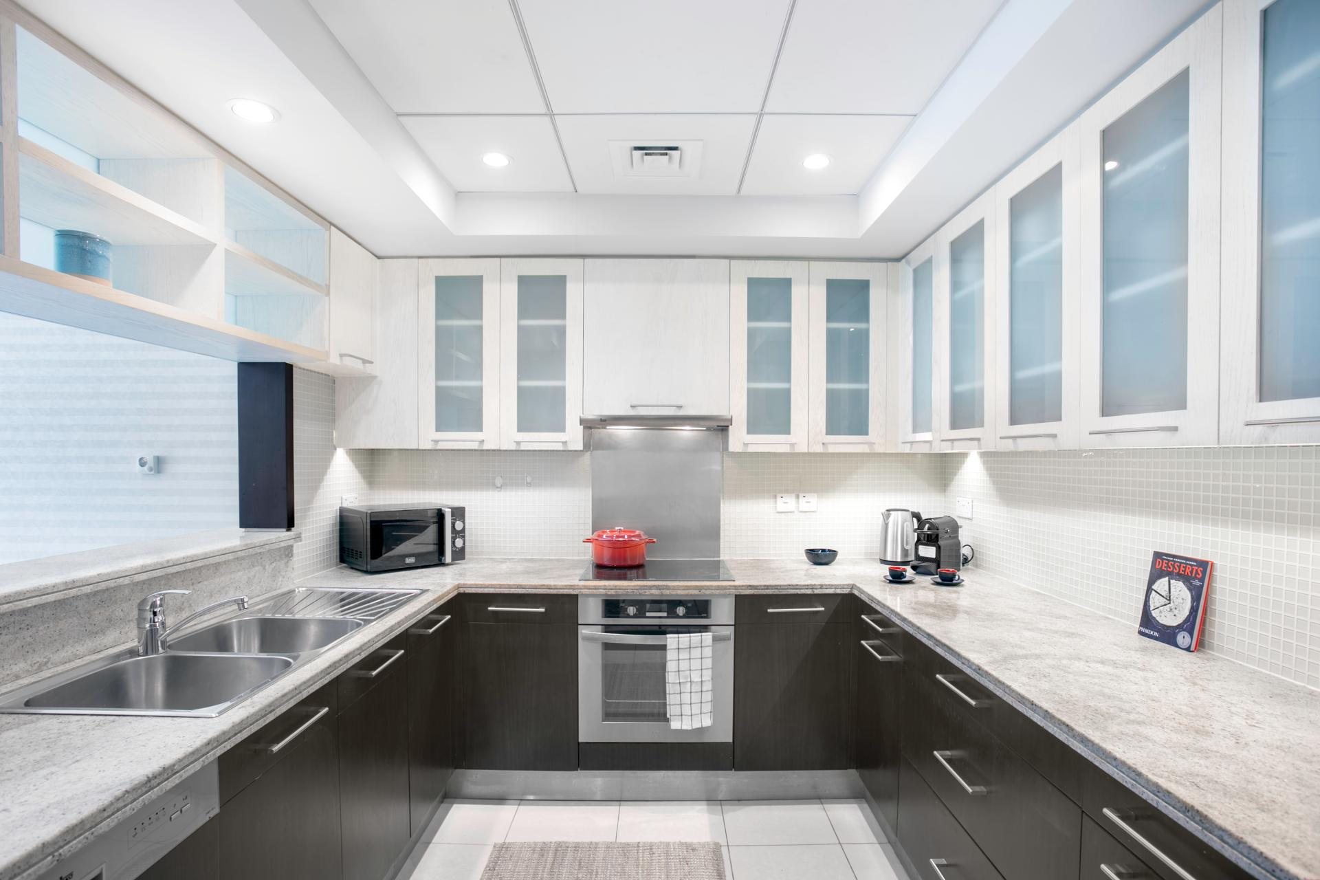 Kitchen at Boulevard Central Apartment - Citybase Apartments