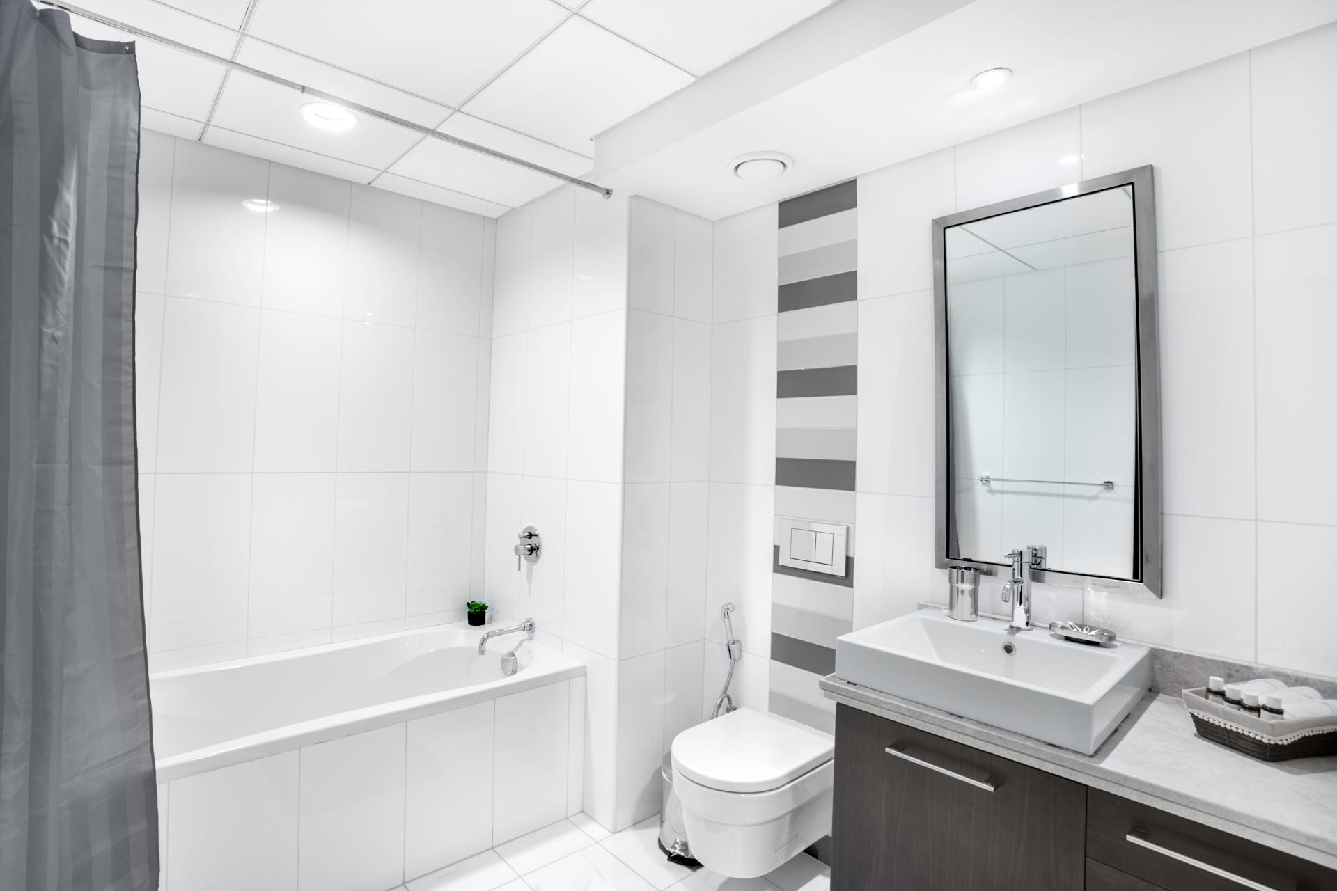Bathroom at Boulevard Central Apartment - Citybase Apartments
