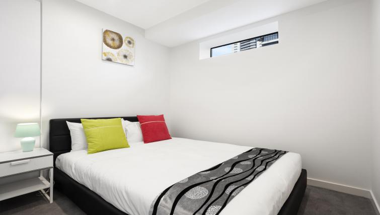 Double bed at Platinum City Serviced Apartments - Citybase Apartments