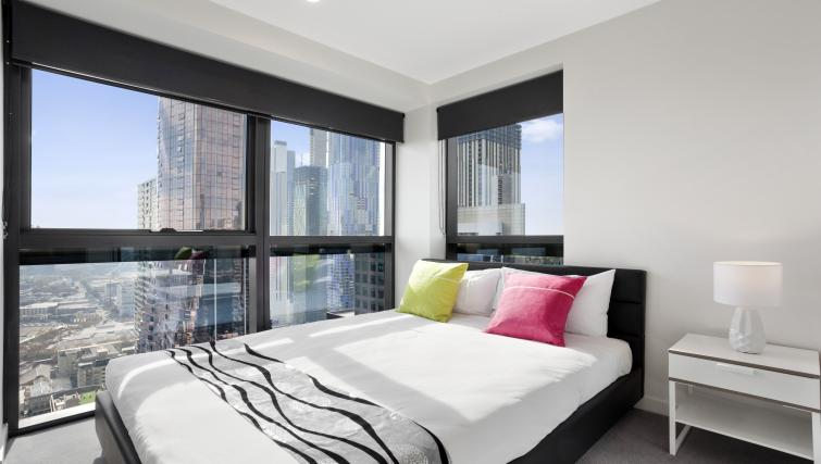 Double bedroom at Platinum City Serviced Apartments - Citybase Apartments