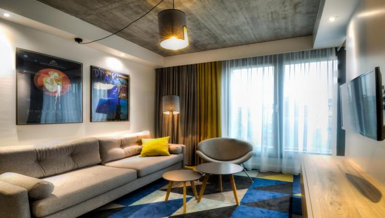 Living area at Lwowska 1 Aparthotel - Citybase Apartments
