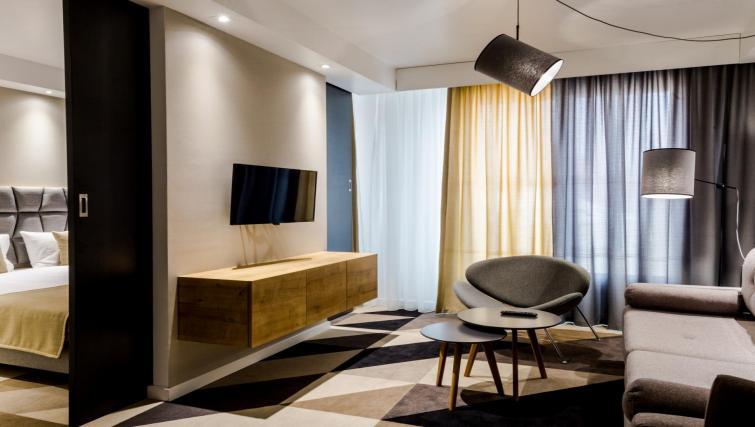 TV at Lwowska 1 Aparthotel - Citybase Apartments