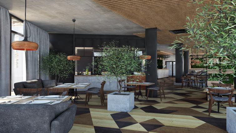Eating area at Lwowska 1 Aparthotel - Citybase Apartments