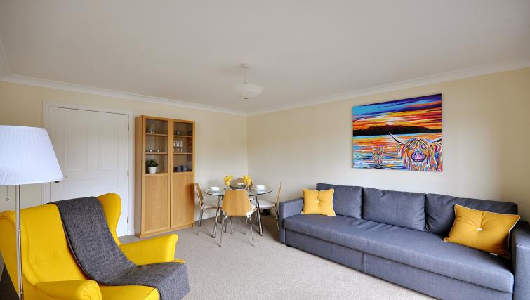 Living area at Harbour House Apartment - Citybase Apartments