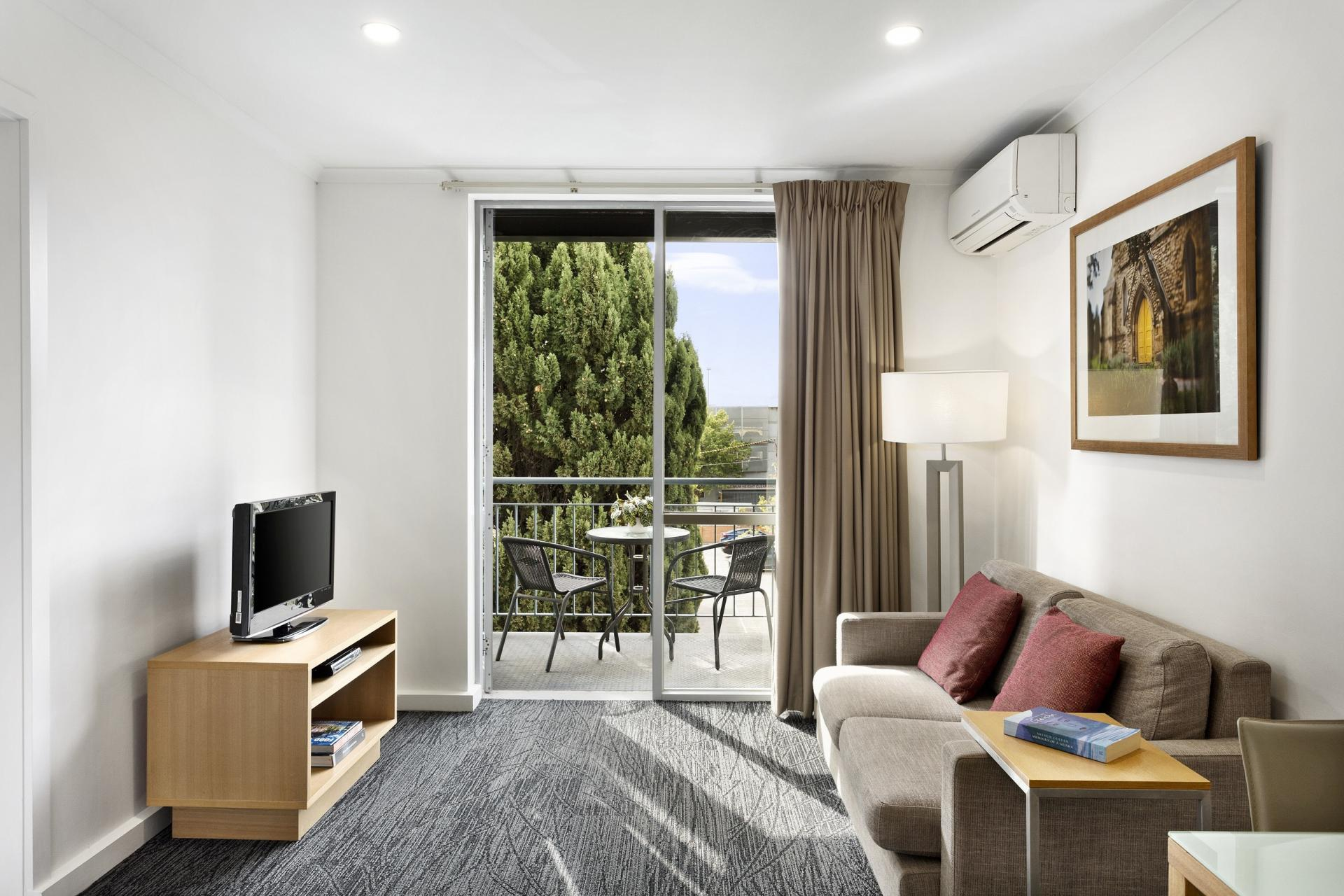 Lounge at Quest St Kilda Bayside Apartments - Citybase Apartments