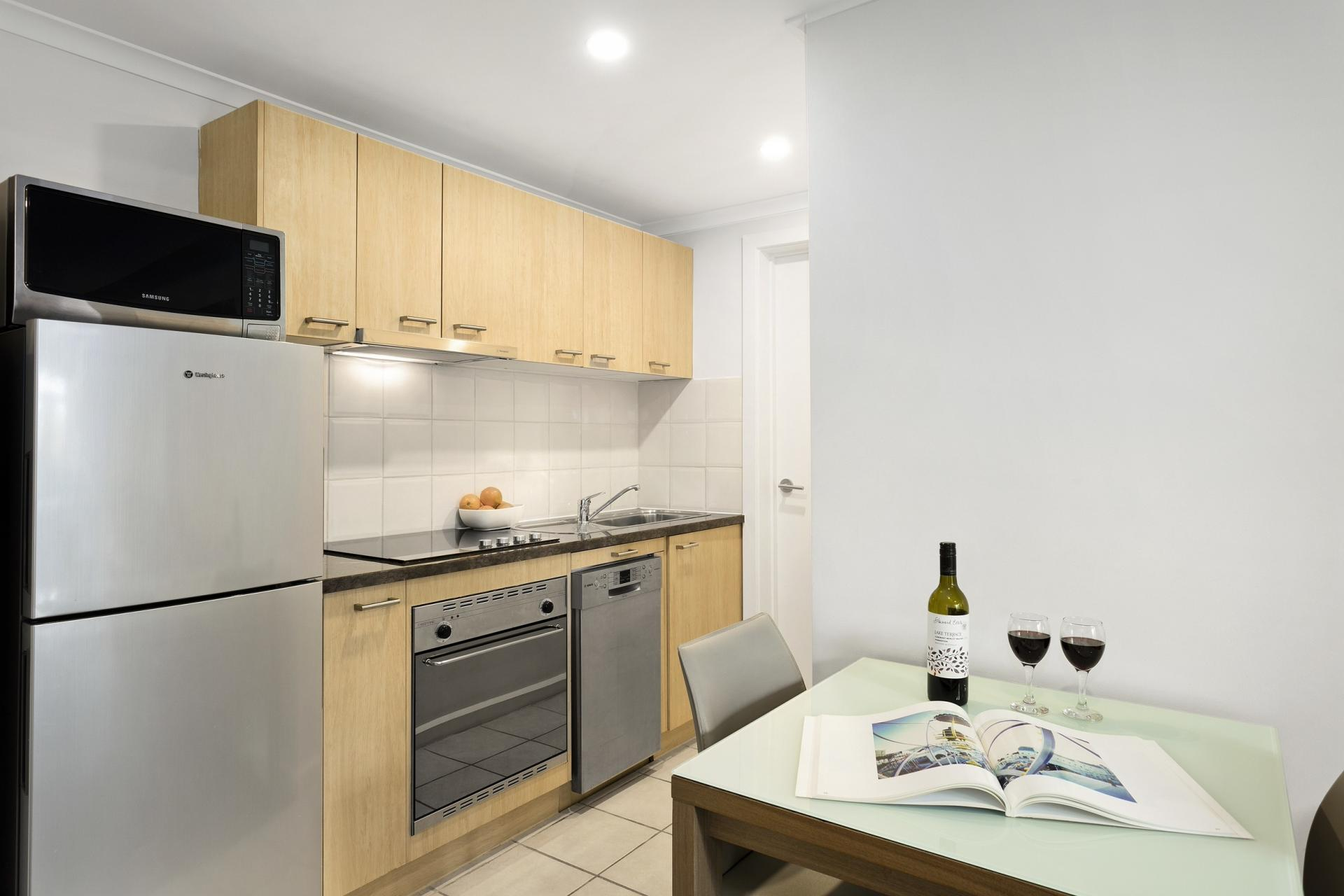 Kitchen at Quest St Kilda Bayside Apartments - Citybase Apartments