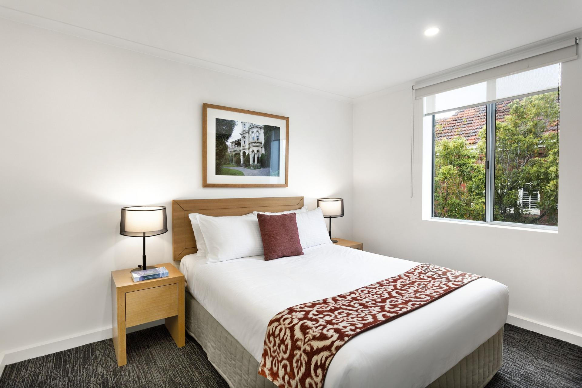Bedroom at Quest St Kilda Bayside Apartments - Citybase Apartments