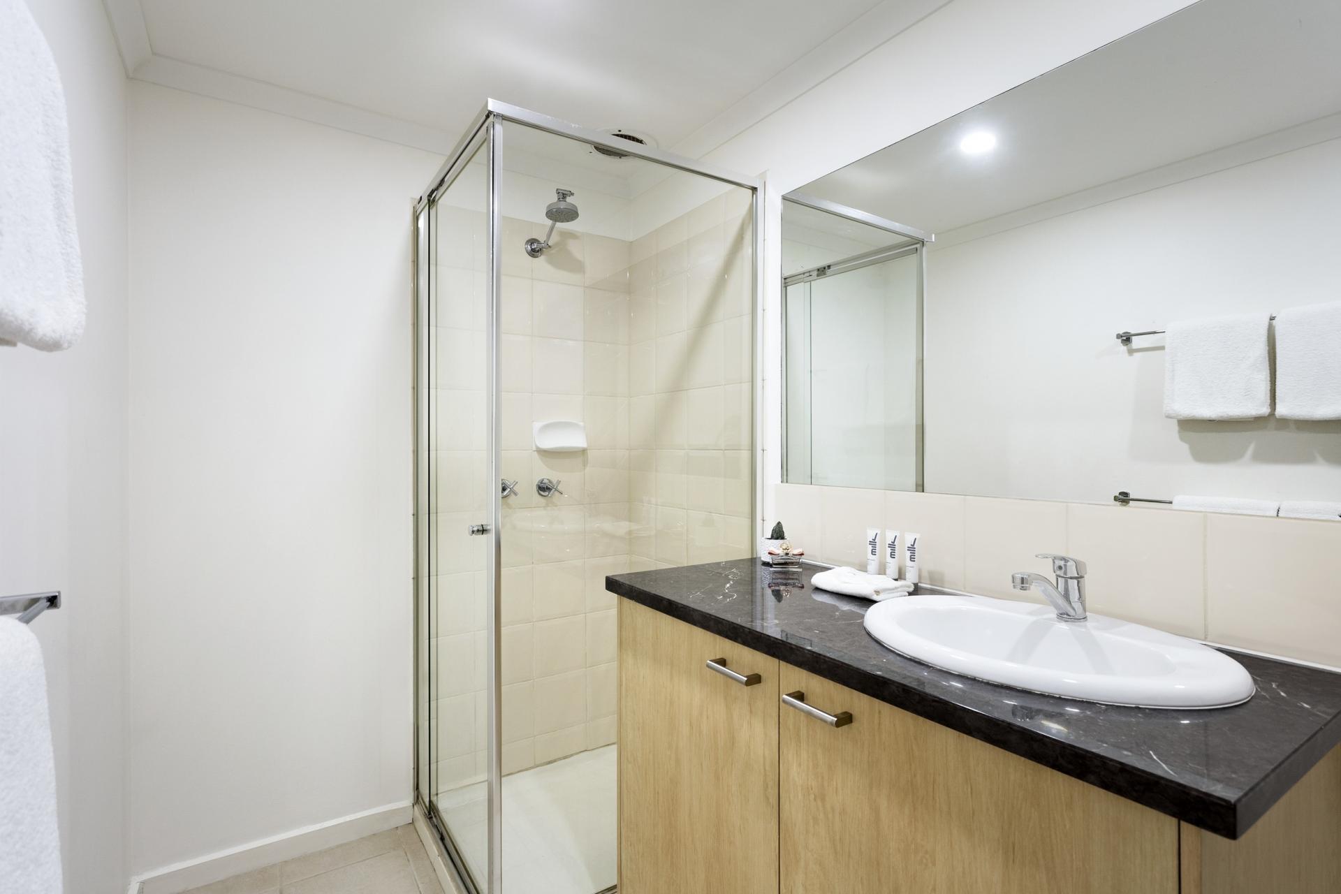 Bathroom at Quest St Kilda Bayside Apartments - Citybase Apartments