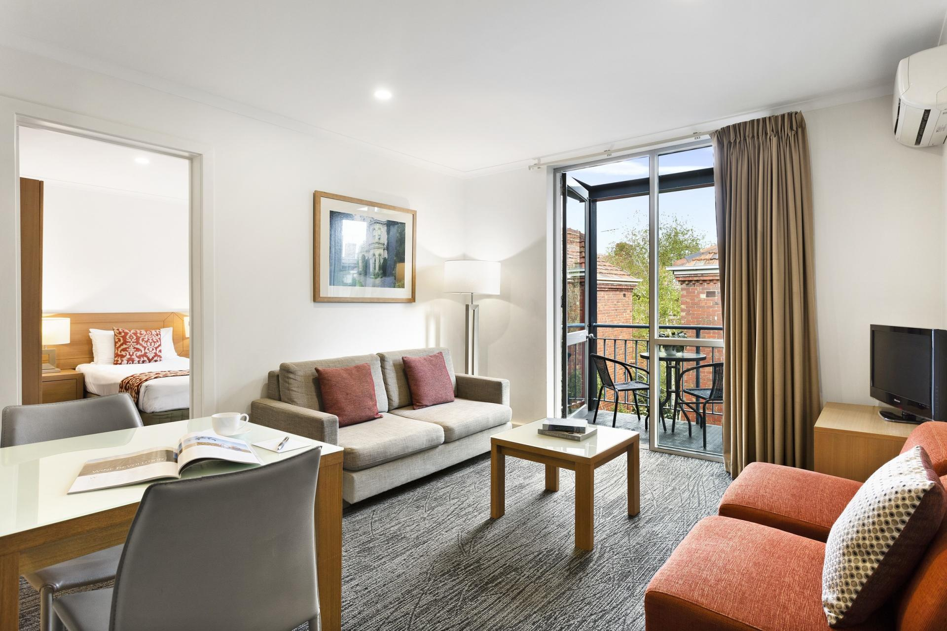 Open-plan at Quest St Kilda Bayside Apartments - Citybase Apartments