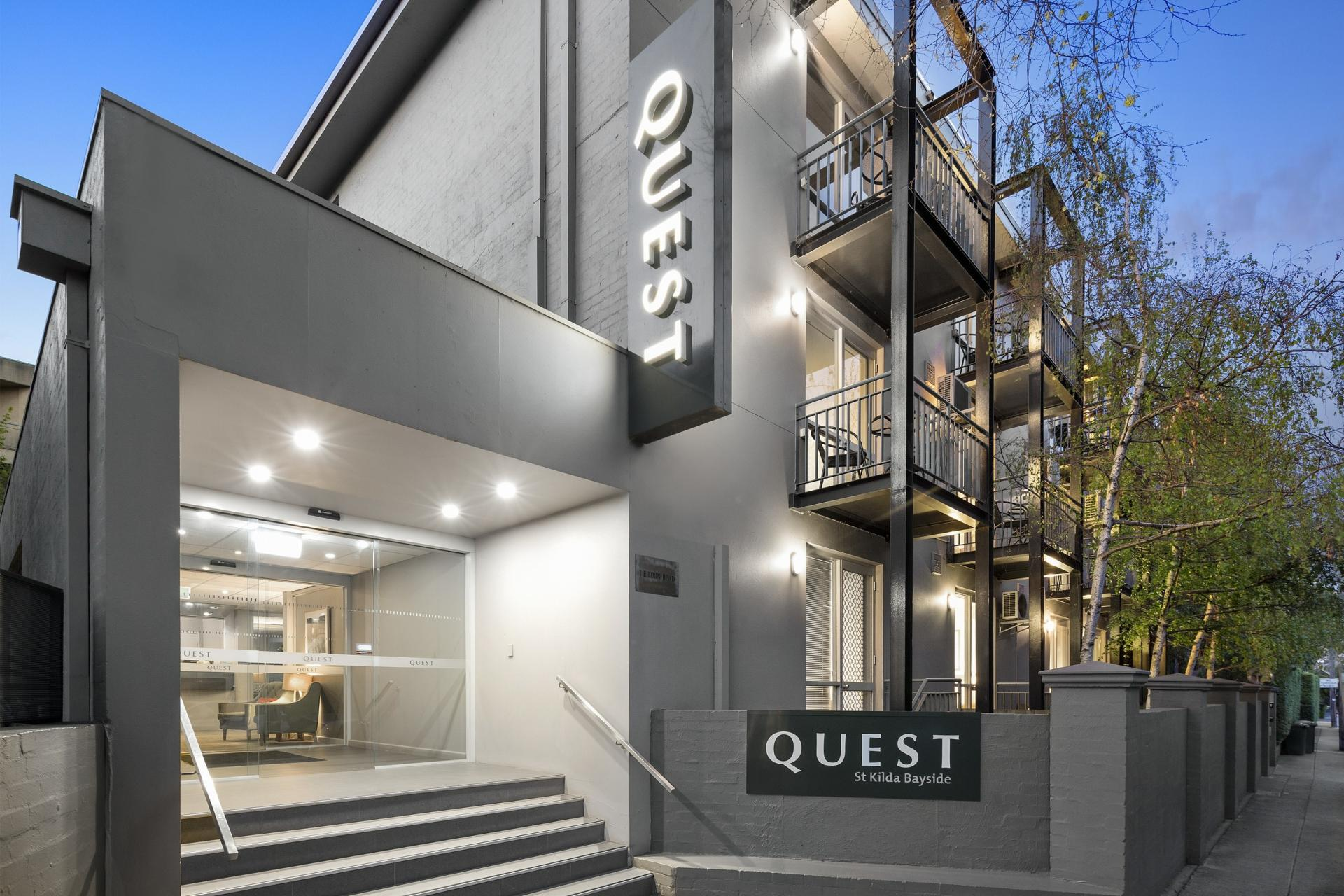 Exterior at Quest St Kilda Bayside Apartments - Citybase Apartments