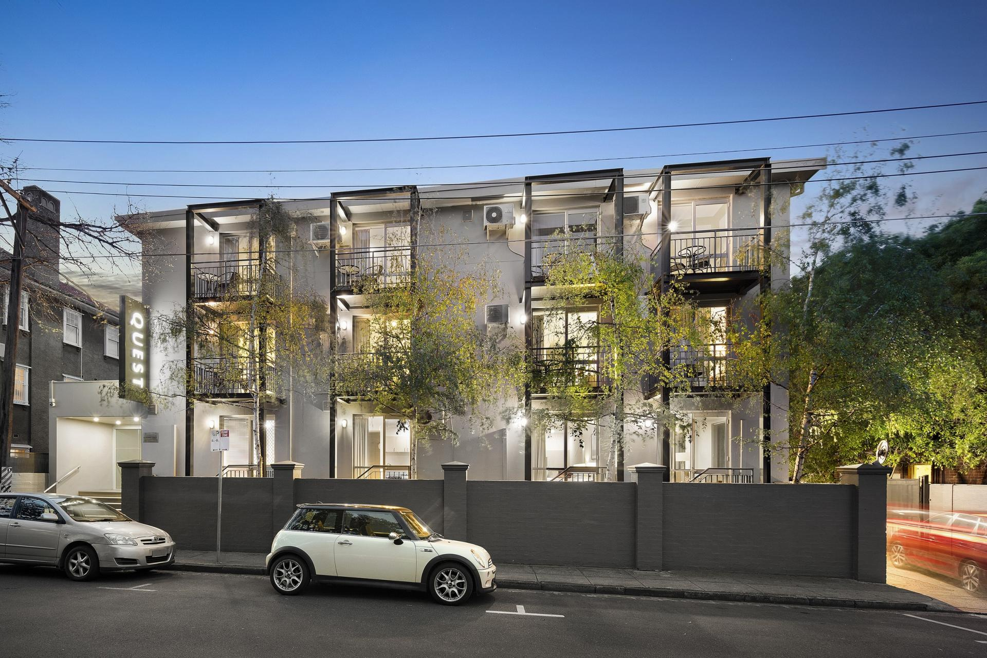 Building at Quest St Kilda Bayside Apartments - Citybase Apartments