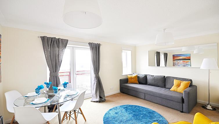 Living room at the Rowallan Residence - Citybase Apartments