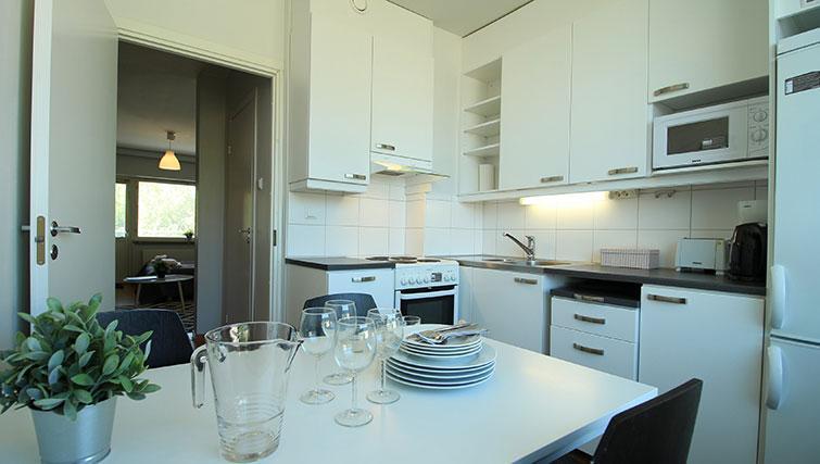 Kitchen at Vähäntuvantie Apartment - Citybase Apartments