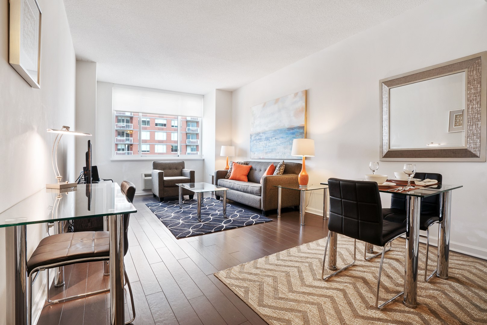 Dining area at M2 Apartments, Hudson Exchange, Jersey City - Citybase Apartments